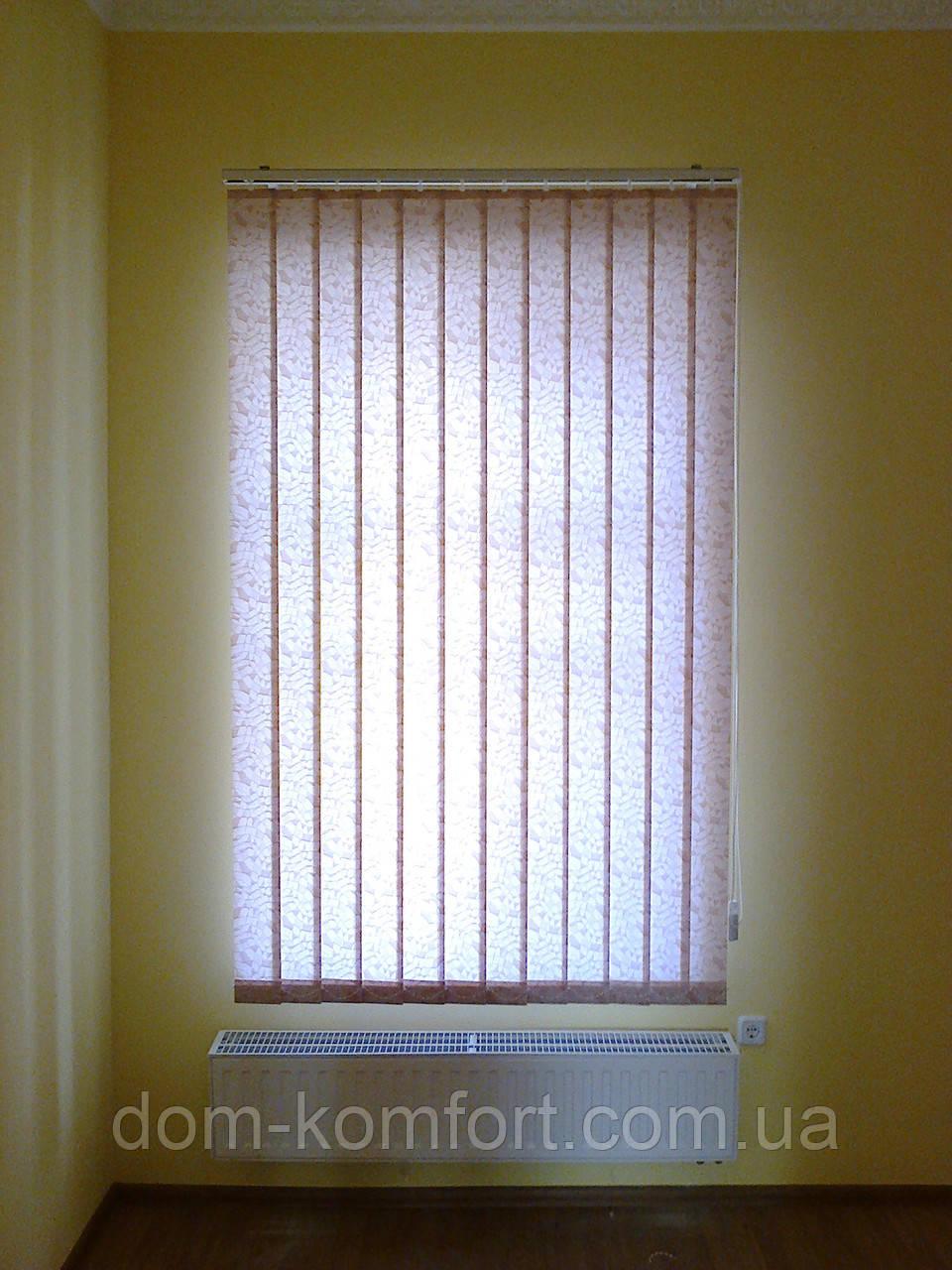 Красивые вертикальные жалюзи на пластиковые окна ткань  Мозаика