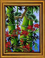 """Схема для вышивания бисером на атласе """"Бамбук счастья. Триптих. Часть 2""""  АЕ-3015"""