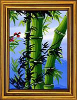 """Схема для вышивания бисером на атласе """"Бамбук счастья. Триптих. Часть 3""""  АЕ-3016"""