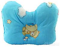 "Подушка ортопедическая для младенцев (бабочка) ОП-2 J2302 OLVI ""Мишка на голубом"", фото 1"