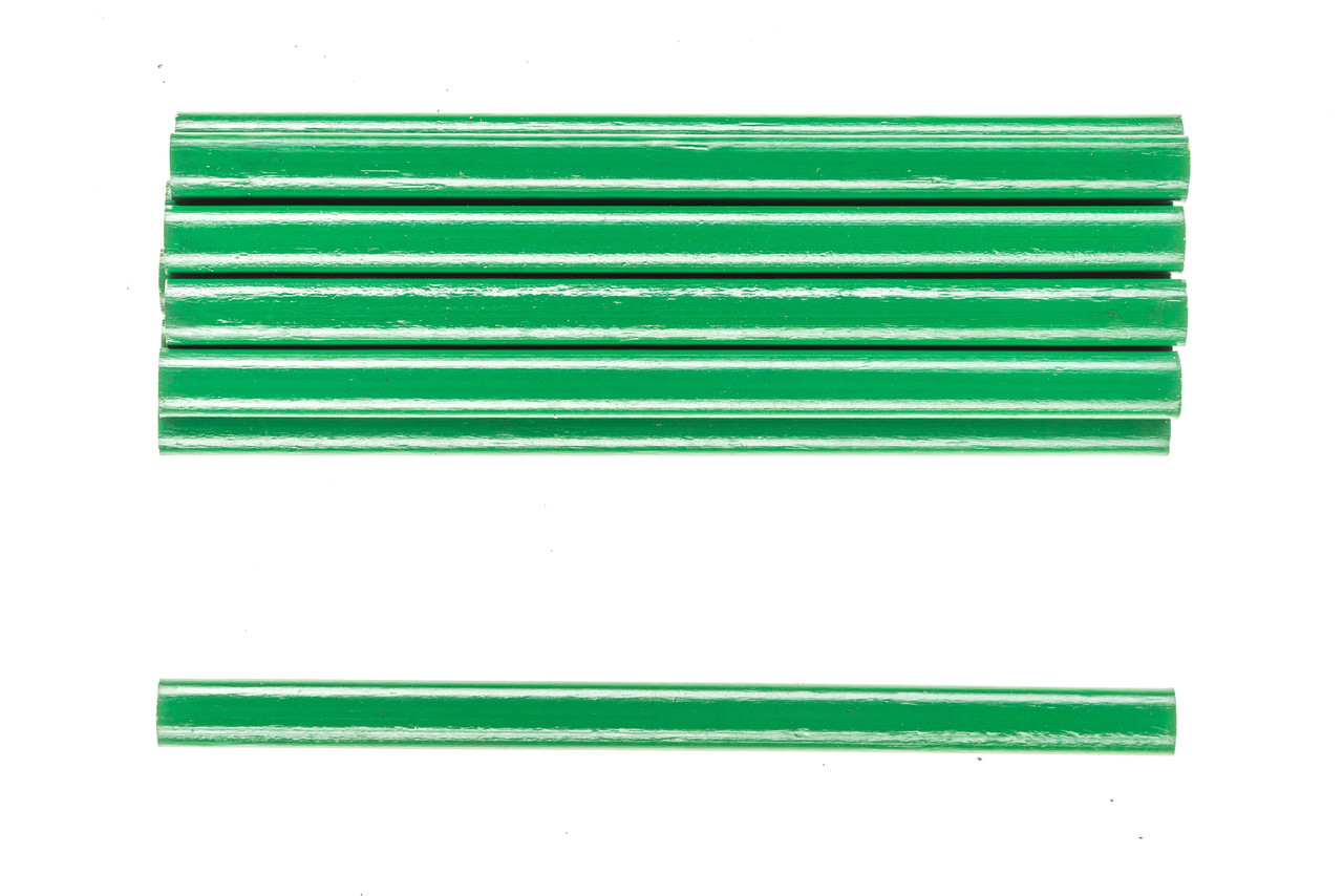 Комплект зеленых овальных карандашей строительных по камню 175 мм(12 шт) HTools, 14B801