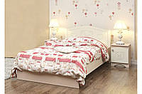 Нежная светлая кровать «Мишка» №6 ТМ «Вальтер - С» Венге светлый + ваниль