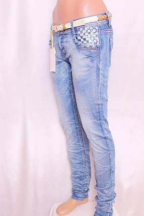 Женские джинсы MISS CURRY с декором карманов, фото 2