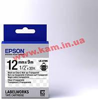 Картридж Epson LK4TBN Clear Black/ Clear 12mm/ 9m (C53S654012)