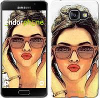 """Чехол на Samsung Galaxy A3 (2016) A310F Девушка_арт """"3005c-159"""""""