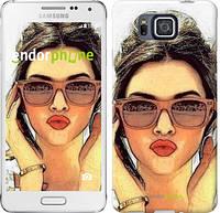 "Чехол на Samsung Galaxy Alpha G850F Девушка_арт ""3005c-65"""