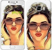 "Чехол на Samsung Galaxy C7 C7000 Девушка_арт ""3005u-302"""