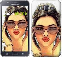 "Чехол на Samsung Galaxy J7 J700H Девушка_арт ""3005c-101"""