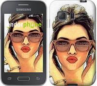"Чехол на Samsung Galaxy Young 2 G130h Девушка_арт ""3005u-206"""