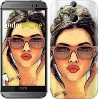 "Чехол на HTC One M8 Девушка_арт ""3005c-30"""