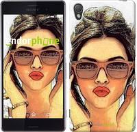 """Чехол на Sony Xperia Z3 dual D6633 Девушка_арт """"3005c-59"""""""