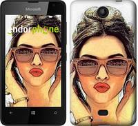 """Чехол на Microsoft Lumia 430 Девушка_арт """"3005u-153"""""""