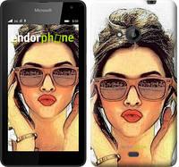 """Чехол на Microsoft Lumia 535 Девушка_арт """"3005u-130"""""""