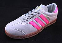 Кроссовки женские ADIDAS HAMBURG серо-розовые (р.36,38,39,40,41)