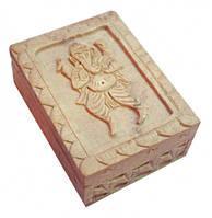 Шкатулка каменная с изображением Ганеша