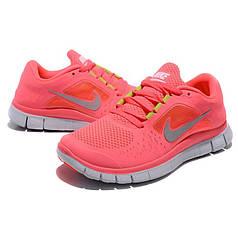 Женские кроссовки Nike Free Run Rose 5.0 V3 коралловые топ реплика