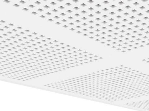 Gyptone Activ' Air BIG Quattro 41 B1 Плиты звукопоглощающие с квадратной перфорацией, фото 2