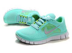 Женские кроссовки Nike Free Run Mint 5.0 V3 мятные топ реплика