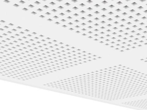 Gyptone Acriv' Air BIG Quattro 43 В1 Плиты звукопоглощающие с квадратной перфорацие