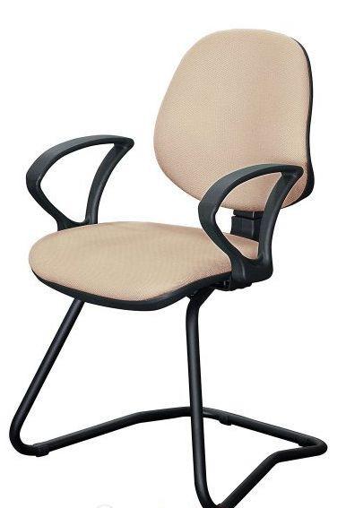 Кресло Поло CF/АМФ-4 Ткань А-49 бежевый. Каркас на прочных металлических полозьях. Каркас покрыт порошковой краской черного цвета.
