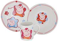 """Набор детской посуды """"Peppa Pig"""", 3 предмета"""