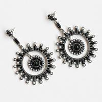 Серьги женские Метеориты черные,модная бижутерия
