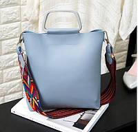 Голубая удобная сумка, фото 1