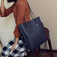 Черная сумка шоппер, фото 1