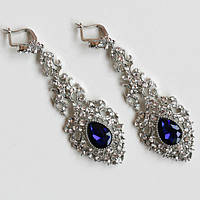 Серьги женские Византия синие ,красивые украшения