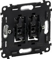 Механизм переключателя 2-клавишного 10A IN'MATIC 752028 Legrand Valena
