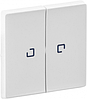 Клавиша 2-клавишного выключателя с подсветкой белая 755220 Legrand Valena Life
