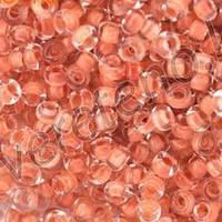 Бісер Preciosa Чехія №38389 1г, прозорий з помаранчевої серединкою