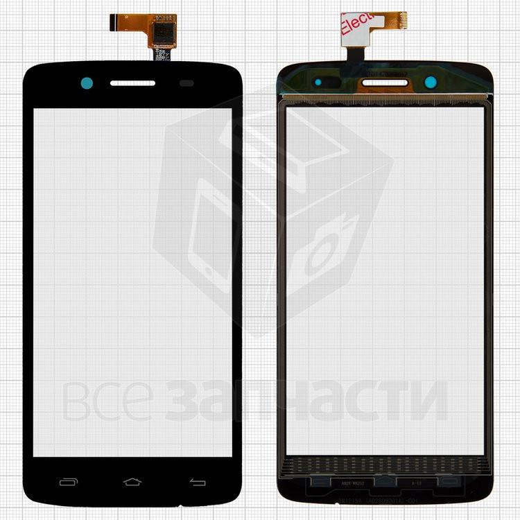 Сенсорный экран для мобильного телефона Prestigio MultiPhone 5507 Duo, черный, #TF0635A-09 A02805001A