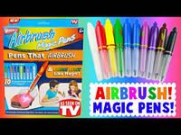 Волшебные фломастеры меняющие свой цвет Airbrush Magic Pens, волшебные фломастеры