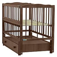 Кроватка детская Baby Sleep Aurora AKP-S-B Nussbaum Dunkel