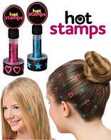 Штамп для волос Hot Stamps, цветная печать Хот Штамп, блеск для волос