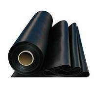 Плёнка чёрная, мульчирующая. Полотно 6м*50м, 120мкм
