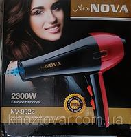 Фен для волос Nova NV-9022 2300W, мощный фен сушка для волос