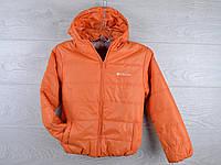 """Куртка-ветровка детская """"Columbia"""". 4-8 лет. Оранжевая. Оптом."""