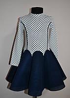 Красивое детское платье, юбка клиньями