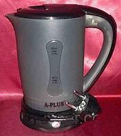 Мини чайник электрический дорожный А-Плюс EK-1530, объем 500 мл, индикатор, 2 чашки в комплекте