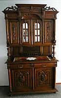 """Буфет дубовый   """"Генрих II"""", мебель из Европы, деревянная мебель для гостинной б/у"""