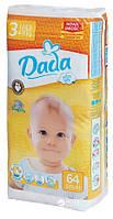 Подгузники Dada extra soft 3 midi(4-9 kg) 64шт