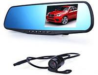Зеркало заднего вида с видеорегистратором DVR-138W c 2мя камерами, фото 1