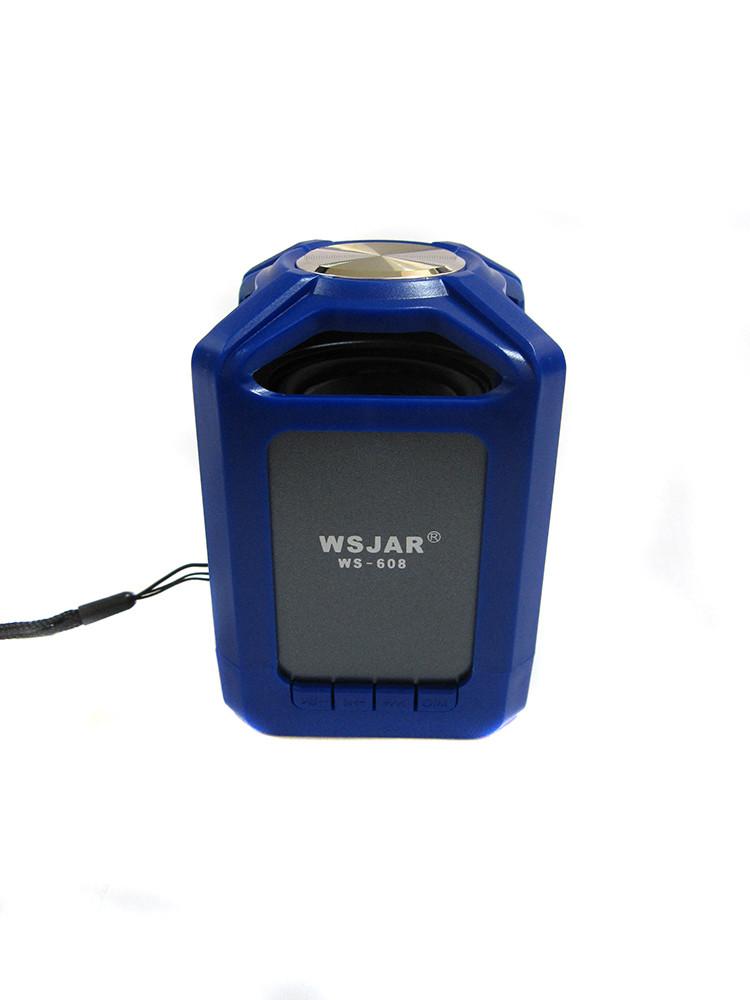 Портативная bluetooth колонка MP3 WSA-608 Blue