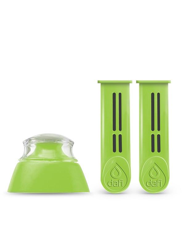 Фильтры(2 шт.) для бутылки Dafi с колпачком(1 шт.) зеленые