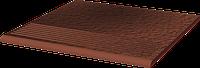 Плитка для ступени клинкерная Paradyz Cloud Rosa Duro stopnice ryflowane proste 30 x 30 x 1,1