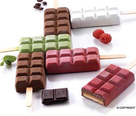 """Набор для мороженого """"шоколад"""" Silikomart (92х48х24мм, 2 формы, 1 поднос, 50 палочек)"""