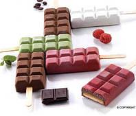 """Набор для мороженого """"шоколад"""" Silikomart (92х48х24мм, 2 формы, 1 поднос, 50 палочек), фото 1"""