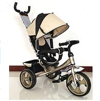 Велосипед детский трехколесный с ручкой - Turbo Trike M 3113-8, Турбо Трайк колеса пена фиолетовый